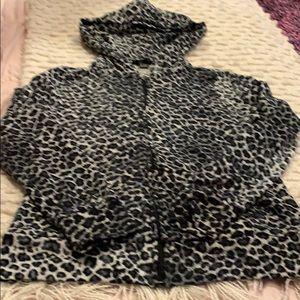 Women's fleece full zip sweatshirt.